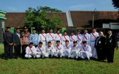 Petugas Upacara HARDIKNAS Kecamatan Kalinyamatan Tahun 2019 dari MA Darul Ulum Purwogondo